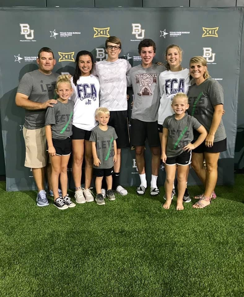 Mayfield family with FCA students