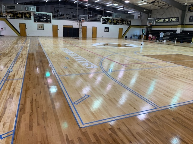 picture 3 of gym floor
